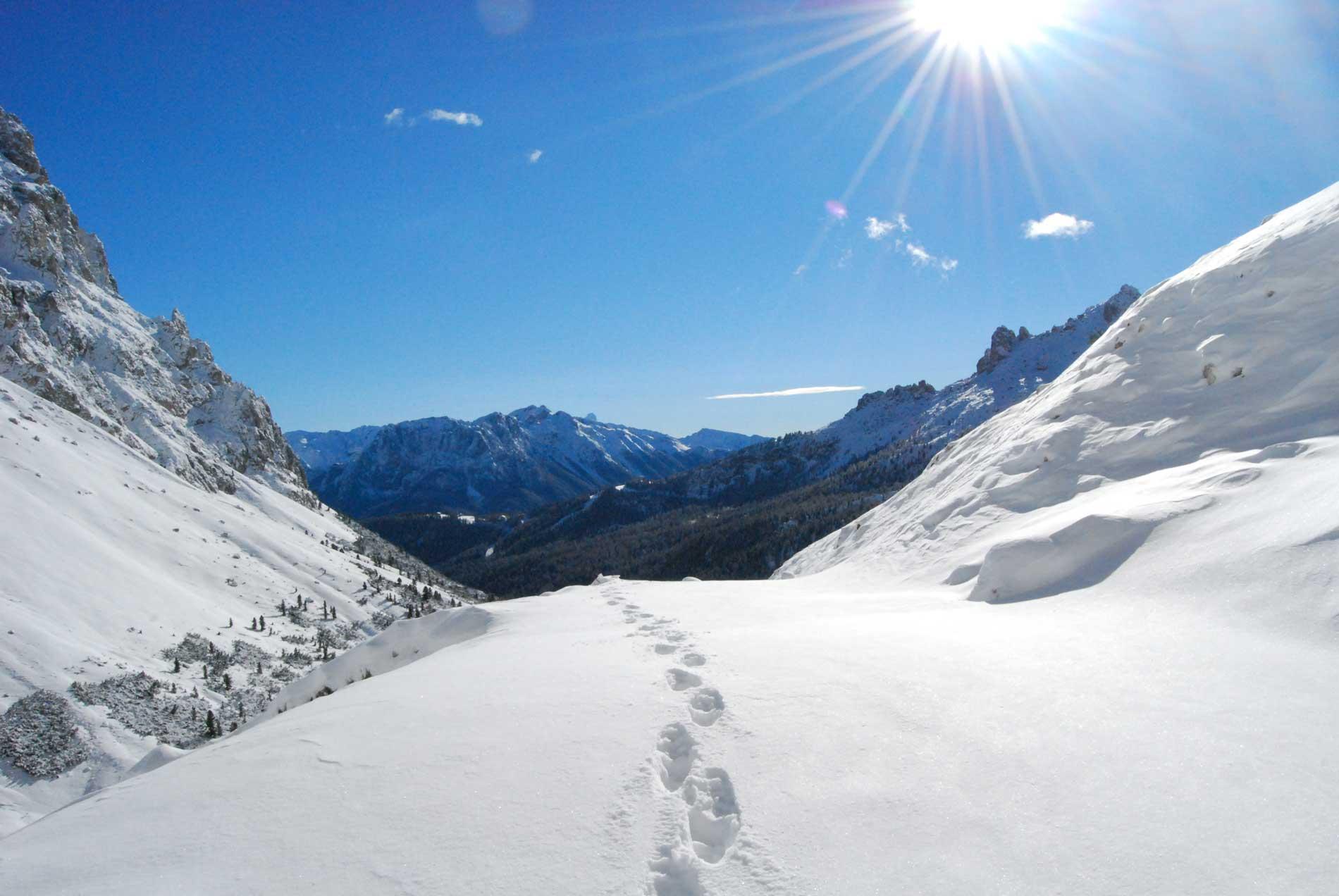 Ciaspolata in Val di Fassa