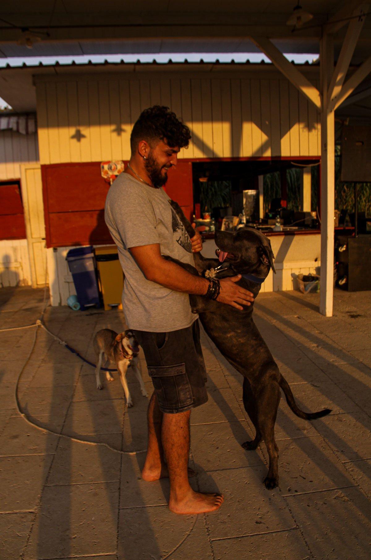 Daniele con cane